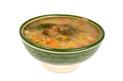 Vegetable Stew. Vegetable soup in a bowl Royalty Free Stock Photo