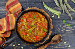 Vegetable stew with beans Royalty Free Stock Photos