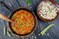 Vegetable stew with beans Stock Photo