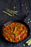 Vegetable stew with beans Stock Photography