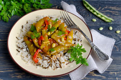 Vegetable stew with beans Royalty Free Stock Photo