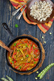 Vegetable stew with beans Stock Images