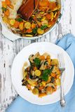 Vegetable stew and carrots Royalty Free Stock Image