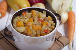 Vegetable stew  . Royalty Free Stock Image