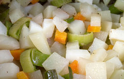 Vegetable stew. Close up of cooked seasonal vegetable stew Royalty Free Stock Image