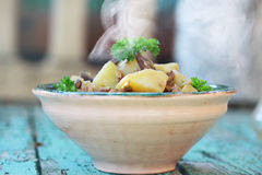Vegetable stew with lentils Royalty Free Stock Images