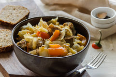 Vegetable stew with meat and potato Royalty Free Stock Images