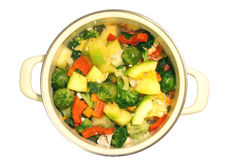 Vegetable stew in a pan Stock Images