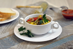 Vegetable stew with potato in a bowl Stock Photos