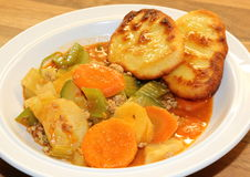 Vegetable stew and potato dumplings Stock Photos