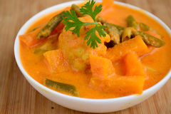 Vegetable Stew with pumpkins beans Royalty Free Stock Photography