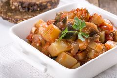 Vegetable stew / ragout stock images