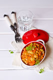 Vegetable stew with sauce Stock Images