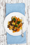 Vegetable stew, top view Royalty Free Stock Images