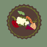 Vegetable sticker Stock Images