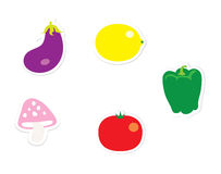 Vegetable Stickers Stock Image