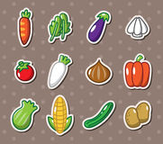 Vegetable stickers Stock Photography