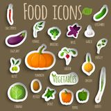 Vegetable stickers set Royalty Free Stock Image