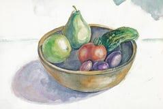 Vegetable still-life vector illustration