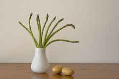 Vegetable Stillife with asparagus and potatoes Royalty Free Stock Photo