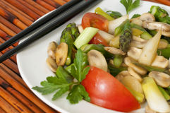 Vegetable Stirfry with Chopsticks Stock Images