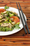 Vegetable Stirfry with Chopsticks Royalty Free Stock Photography