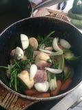 Vegetable stock pot Stock Image