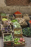 Vegetable street small market. Various kind of vegetable in street in traditional market Royalty Free Stock Photos