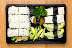 Vegetable sushi mix Royalty Free Stock Image