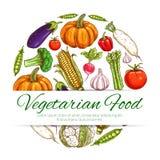 Vegetable symbol of fresh organic veggies Royalty Free Stock Images
