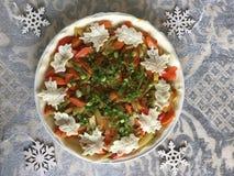 Vegetable tart. Fall season cooking Stock Photo
