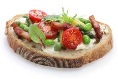 Vegetable tartine Royalty Free Stock Photography