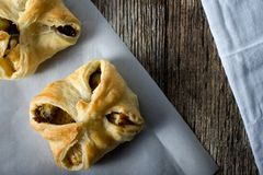 Vegetable Tarts savory baked in Pasty Dough Royalty Free Stock Photography