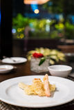 Vegetable tempura. On a white plate Royalty Free Stock Images
