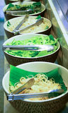 Vegetable for Thai vermicelli eaten with curry Royalty Free Stock Image