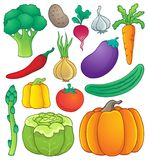 Vegetable theme collection 1 Royalty Free Stock Photography