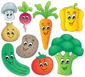 Vegetable theme collection 4 Stock Photos