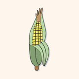 Vegetable theme corn elements vector,eps Royalty Free Stock Images