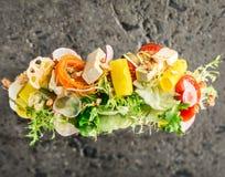 Vegetable tofu salad Stock Image