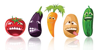 Vegetable toon vector set Royalty Free Stock Photos