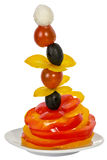 Vegetable tower Royalty Free Stock Photography