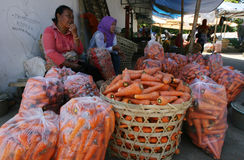 Vegetable traders Royalty Free Stock Photography