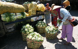 Vegetable traders Royalty Free Stock Photos