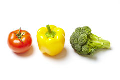 Vegetable traffic light concept Stock Photography