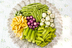 Vegetable on a tray. Royalty Free Stock Images