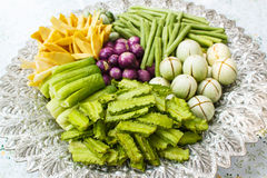 Vegetable on a tray. Royalty Free Stock Photography