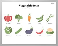 Vegetable icons flat pack royalty free illustration