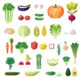 Vegetable vector set. Modern flat design.  objects. Vegetable icons Stock Photo