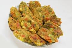 Vegetable vegetarian pakoras Royalty Free Stock Images