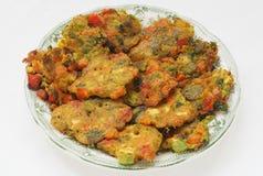 Vegetable vegetarian pakoras Stock Images